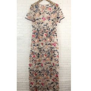 Lularoe deanne II embroidered floral mesh maxi